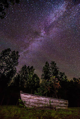 Photograph - Old Boat Under The Stars by Tim Kirchoff