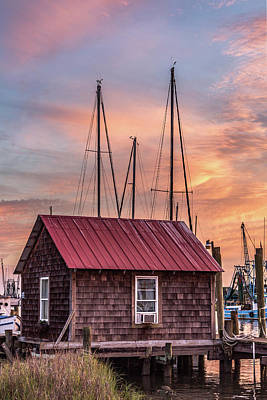 Photograph - Old Boathouse On Shem Creek by Donnie Whitaker