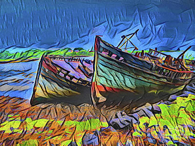 Photograph - Old Boats 21118 by Ray Shrewsberry