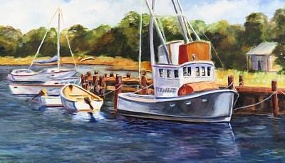 Worthy Painting - Old Boats by Jean Costa