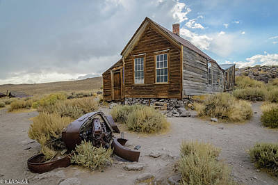Photograph - Old Bodie House II by Mike Ronnebeck