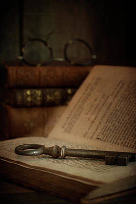Photograph - Old Book With Key by Ethiriel Photography