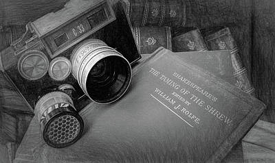 Photograph - Old Books And Cameras by Pat Cook