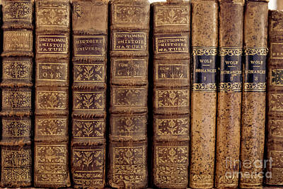 Dictionary Photograph - Old Books by Edward Fielding