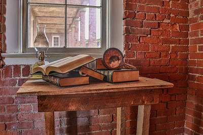 Photograph - Old Books In Old Classroom by Paula Porterfield-Izzo