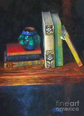 Pastel - Old Books by Julia Blackler