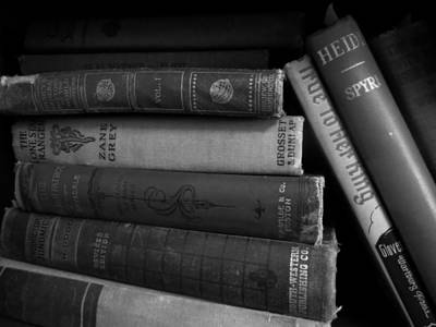 Photograph - Old Books by Kyle J West