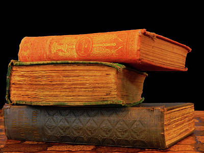 Photograph - Old Books by Mark Blauhoefer