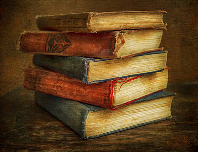 Photograph - Old Books by Theresa Tahara