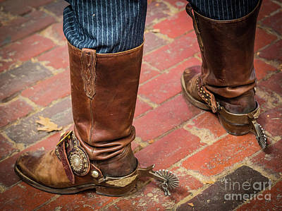 Old Boots Art Print by Inge Johnsson