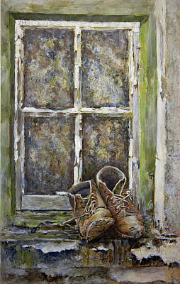Old Boots Art Print by Marty Garland