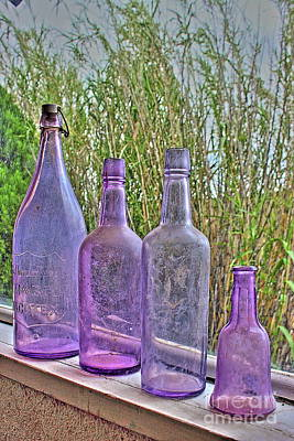 Photograph - Old Bottle Collection by Natalie Ortiz