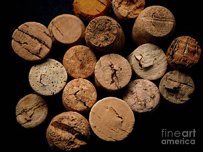 Stopper Photograph - Old Bottle Cork, View From Above by Andreas Berheide