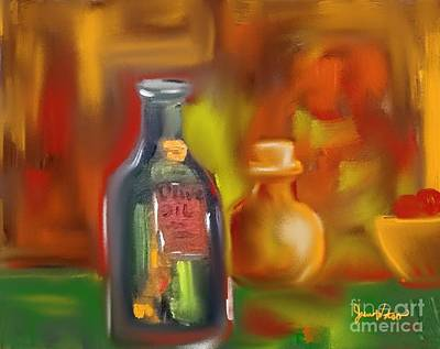 Painting - Old Bottles by Jeanie Watson