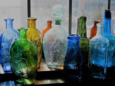 Photograph - Old Bottles by John Scates