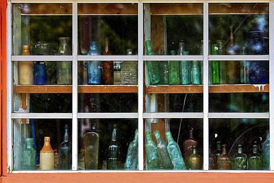 Photograph - Old Bottles by Tatiana Travelways