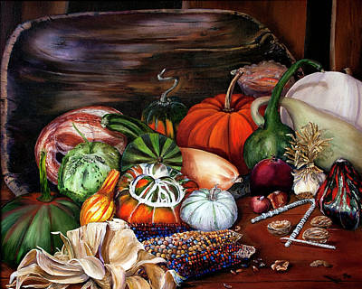 Painting - Old Bowl Cornucopia by Terry R MacDonald