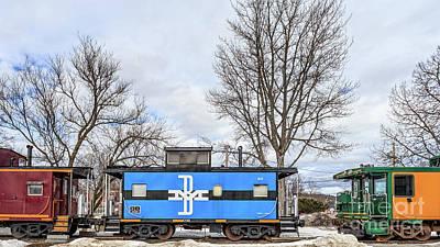 Photograph - Old Box Cars Lake Winnipesaukee New Hampshire by Edward Fielding