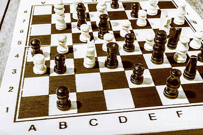Chess Photograph - Old Brain Games by Jorgo Photography - Wall Art Gallery