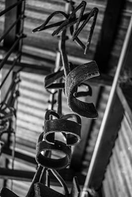 Photograph - Old Branding Irons Bw by Teresa Wilson