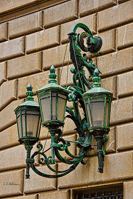 Photograph - Old Brass Lighting by Christopher Holmes