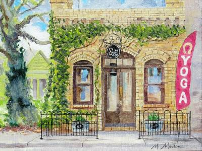 Mike Martin Painting - Old Brick Building by Mike Martin