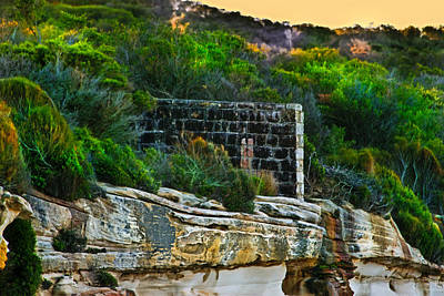 Photograph - Old Brick Fence Built To The Edge by Miroslava Jurcik