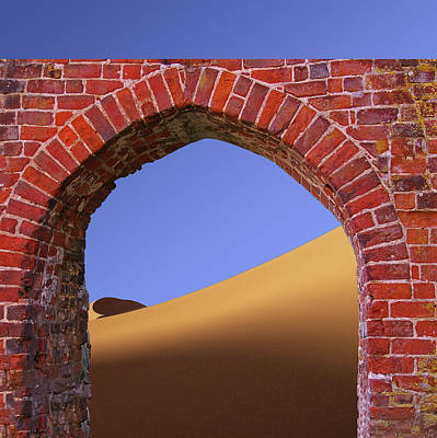Mixed Media - Old Brick Portal To The Desert by Clive Littin