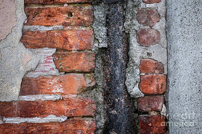 Exposed Photograph - Old Brick Wall Abstract by Elena Elisseeva