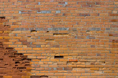 Photograph - Old Brick Wall by Derek Dean