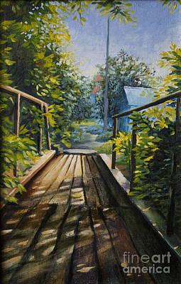 Old Bridge Print by Anna Berezina