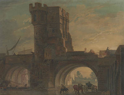 Painting - Old Bridge At Shrewsbury by Paul Sandby