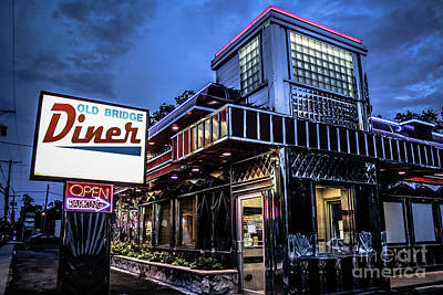 Photograph - Old Bridge Diner - Jersey Diners by Colleen Kammerer