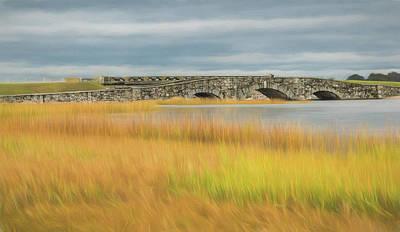 Photograph - Old Bridge In Autumn by Nancy De Flon