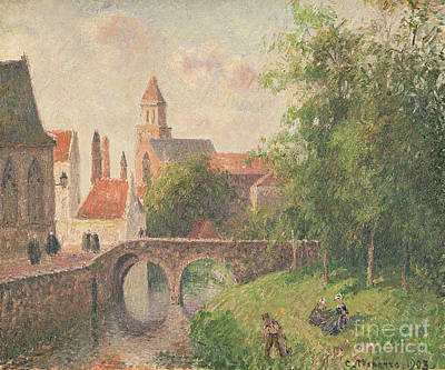Town Painting - Old Bridge In Bruges  by Camille Pissarro