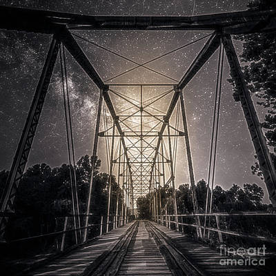 Photograph - Old Bridge In The Moonlight by Peggy Franz