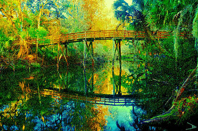 Florida Bridge Painting - Old Bridge On The Hillsborough by David Lee Thompson