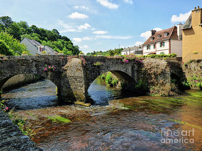 Photograph - Old Bridge Over Elle River Quimperle, France by Lynn Bolt