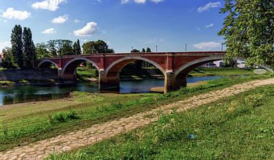 Photograph - Old Bridge Over The Kupa River In Sisak, Croatia by Elenarts - Elena Duvernay photo