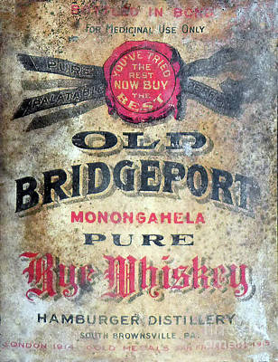 Hamburger Restaurants Photograph - Old Bridgeport Rye Whiskey by Jon Neidert