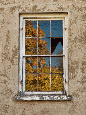 Photograph - Old Broken Window by Michael Flood