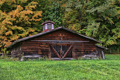 Photograph - Old Brown Shed by Allen Beatty