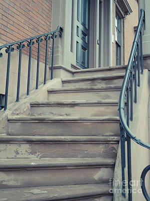 Old Brownstone Staircase Art Print by Edward Fielding