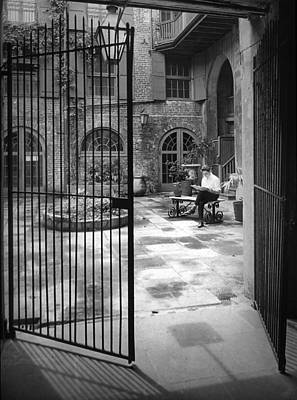 Photograph - Old Brulatour Patio by Crescent City Collective