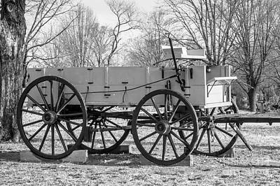 Photograph - Old Buckboard In Bw by Imagery by Charly