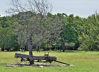 Transportion Photograph - Old Buckboard by Robert Brown
