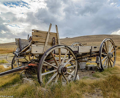 Photograph - Old Buckboard Wagon by Mike Ronnebeck