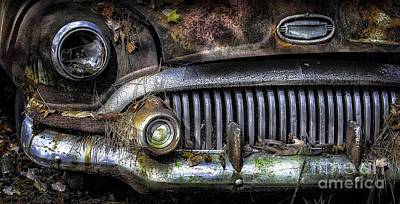 Old Buick Front End Art Print by Walt Foegelle