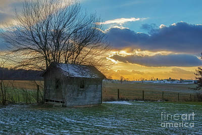 Photograph - Old Building At Sunset by David Arment