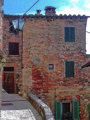 Photograph - Old Building Cetona Tuscany by Dorothy Berry-Lound
